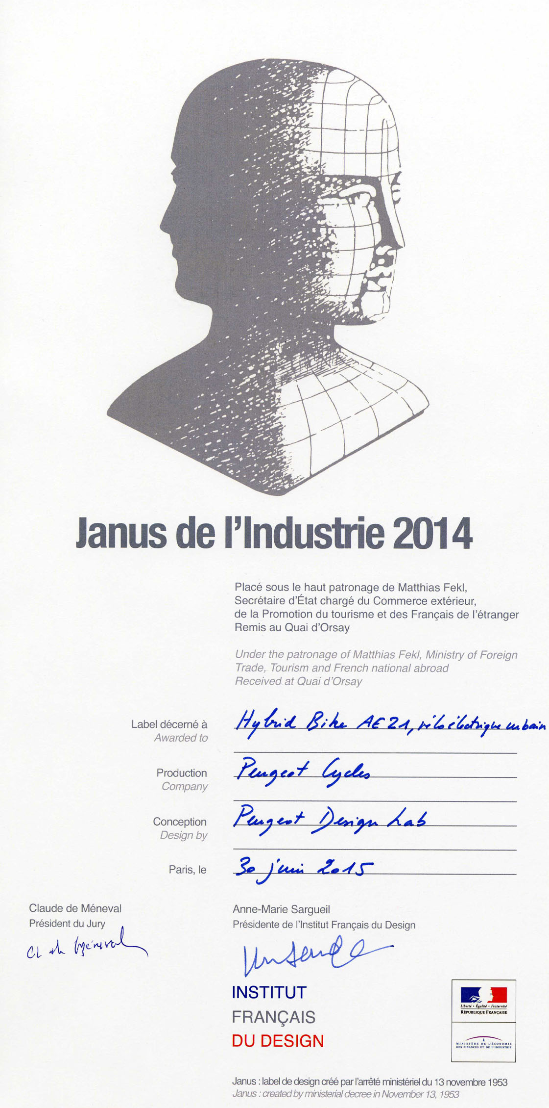 News - Photos - Janus du design