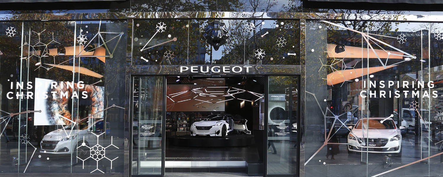peugeot avenue paris inspiring xmas news peugeot design lab. Black Bedroom Furniture Sets. Home Design Ideas