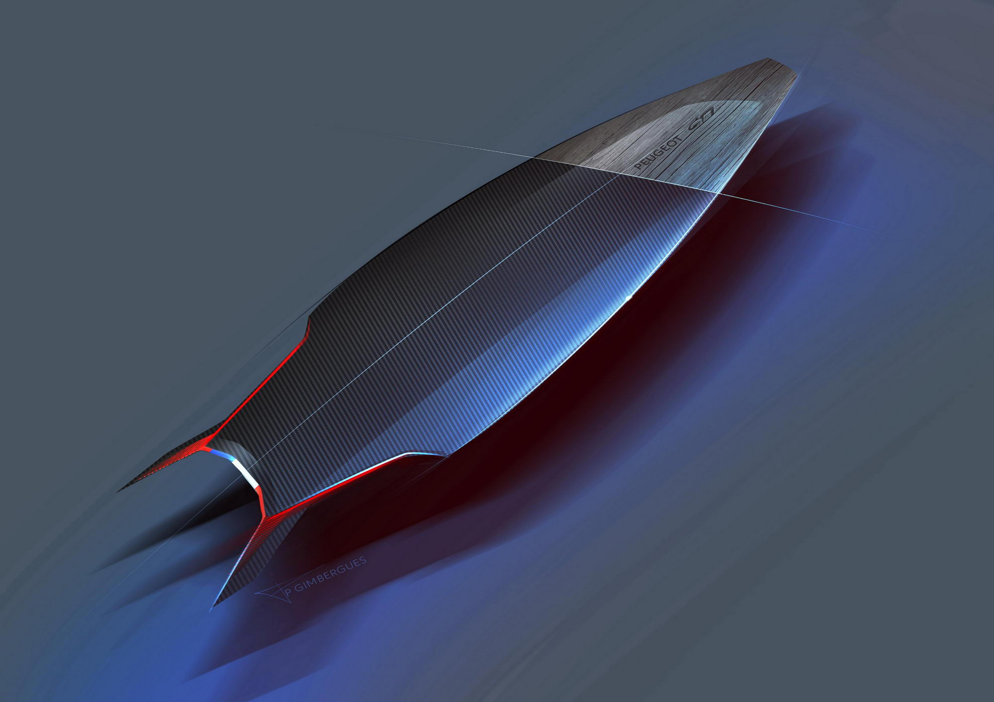 Transport - Sketches - Peugeot GTI Surfboard Concept