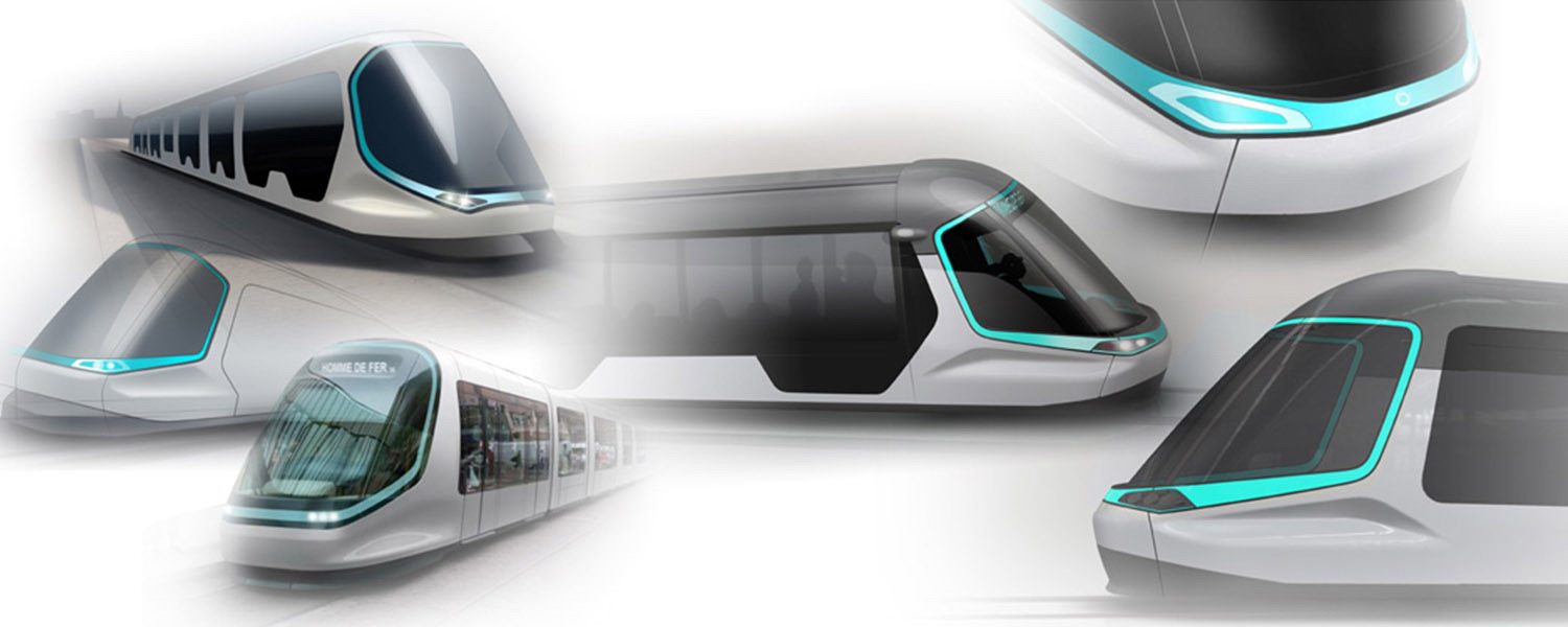 Transportation - sketches - Alstom Strasbourg Tram