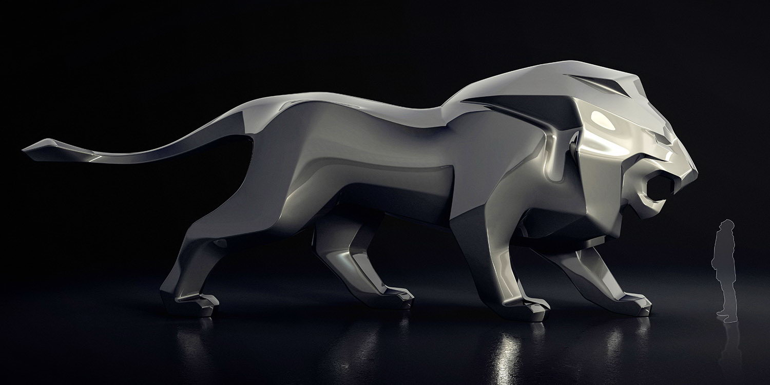 Product Design - PEUGEOT LION SCULPTURE