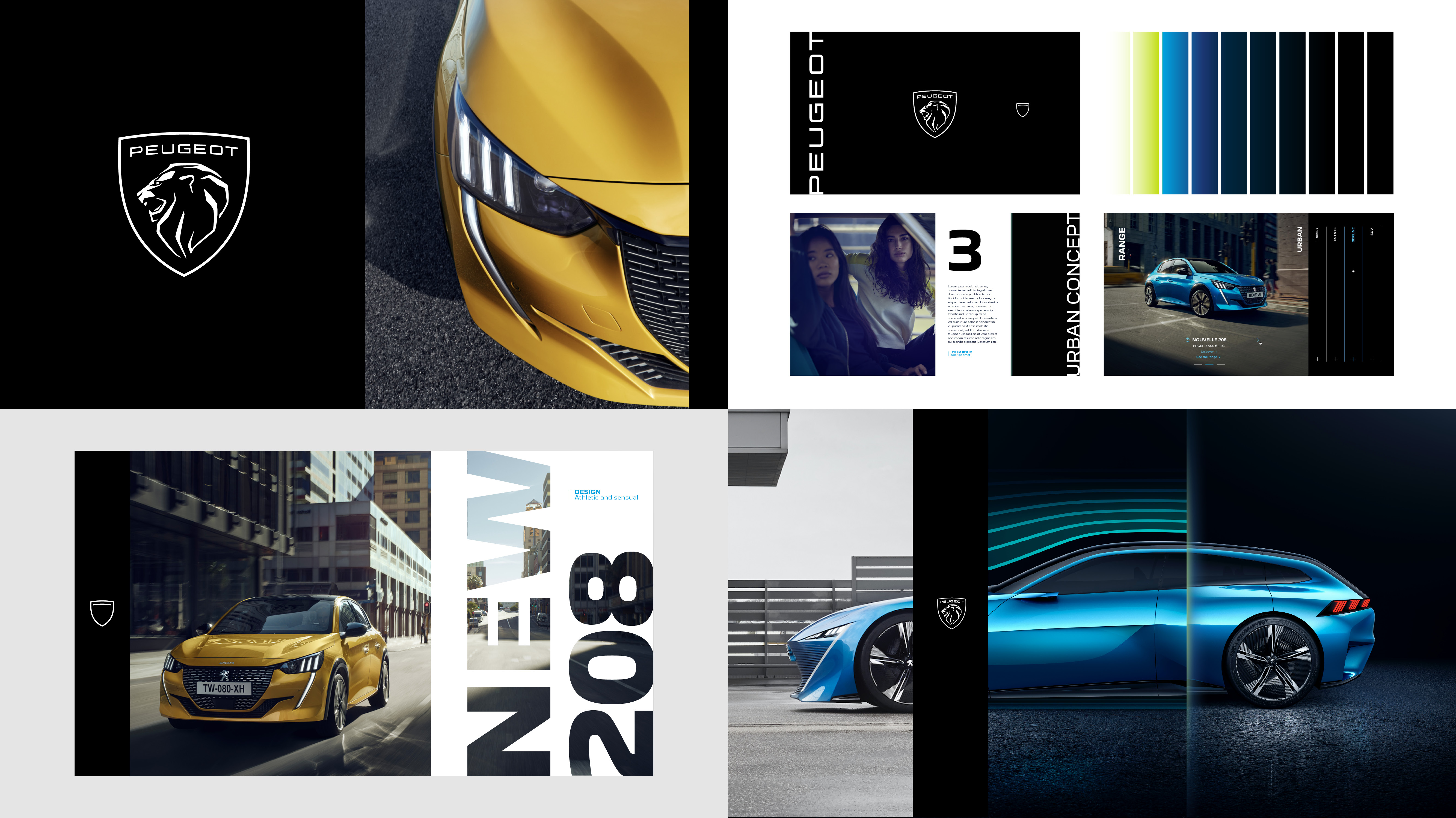 Brand identity - photos - Peugeot new font